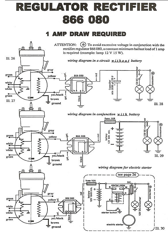rectifier 886 080 wiring diagram rotax rectifier 886 080 wiring diagram
