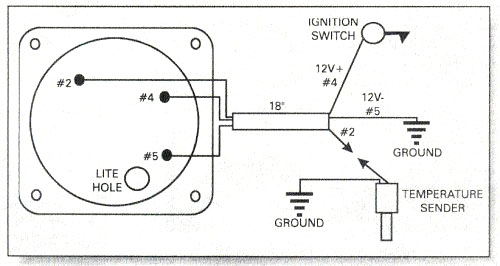 water temperature gauge wiring diagram  rotax 582 water