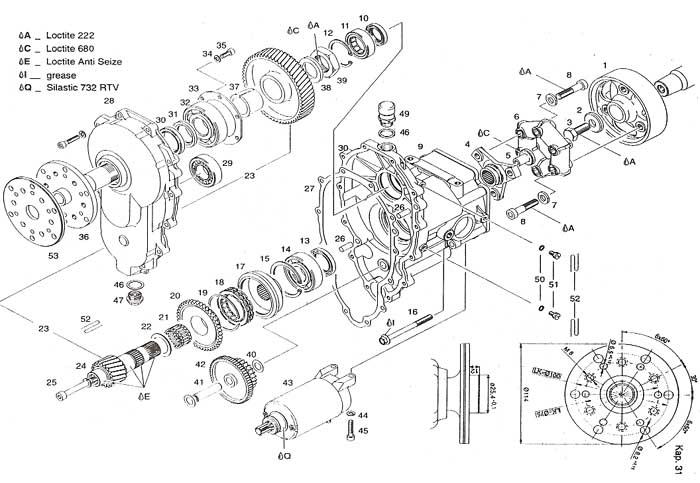 E drive, Rotax e gearbox, Rotax E reduction drive gear box.